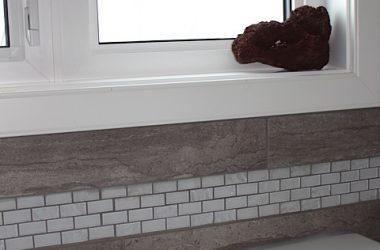 ensuite- custom tiling work